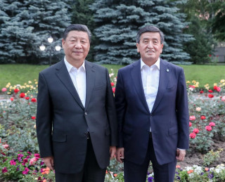 Chinese, Kyrgyz Presidents Ple